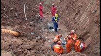 深圳市の土砂崩れ、救出作業続く