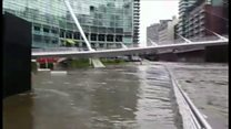Water rises in Manchester city centre