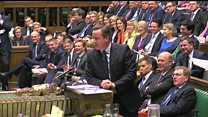 Cameron hits back at floods question with jibe over Corbyn reshuffle