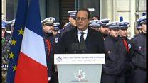 「シャルリ・エブド」襲撃1年 仏大統領、警察を称え
