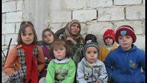 包囲されたシリアの町 こけた頬の子どもたち