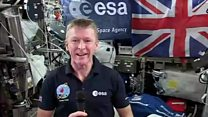 Tim Peake excited before spacewalk