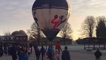 Hot air balloon lands on school grounds