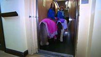 Shetland Ponies visit care home