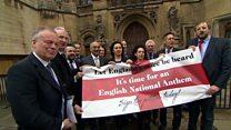 MPs singing praises of English anthem campaign