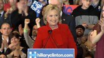 ヒラリー・クリントン氏、アイオワ州で「ホッとため息」