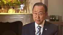 シリアのため政治対話促す 国連事務総長