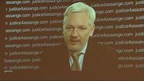 Wikileaks founder Julian Assange via video link