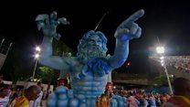 Rio's carnival meets the Olympics