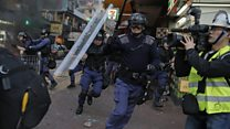 Street clashes flare in Hong Kong