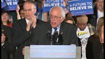 サンダース氏「政治革命」を約束 ニューハンプシャー州で勝利