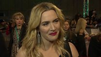 Winslet struggles to be heard in interview