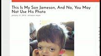 息子の写真をネタにしないで 母親の戦い