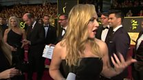 Kate Winslet caught short at Oscars