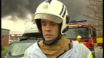 Rob Barber says the fire service want people to stay inside