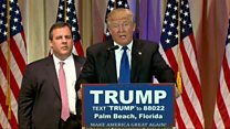 Chris Christie supports Donald Trump in Florida