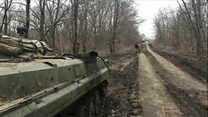 Gunfire on the front line of Ukraine's 'forgotten war'