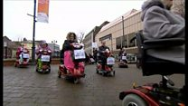 Mobility scooter protest in Luton