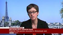 Molenbeek raid 'Gunfire and explosions reported'