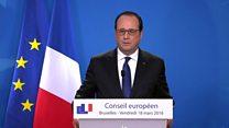 Francois Hollande 'Link with attacks in Paris'
