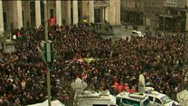Brussels falls silent in remembrance