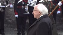 Irish President lays wreath at Kilmainham Gaol