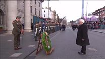 A minutes silence held to mark Easter Rising