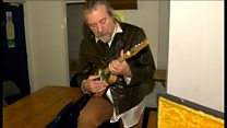 Stained glass mandolin signed by Robert Plant up for auction