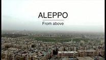 シリア最大都市をドローンで撮影 内戦の激しさ物語る