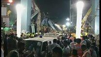 インドで高架道路が崩落 少なくとも20人死亡
