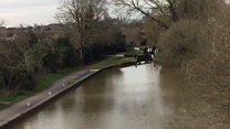 Worcester canal cordoned off after murder arrest