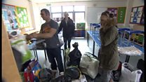Fire-hit family receive donations