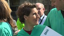 Green Wing cast support junior doctors