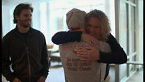 息子の心臓の音を再び 母親が移植患者と面会