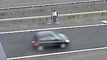 Cyclist makes dash for Heathrow along M25
