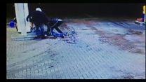Vicious attack on man caught on CCTV