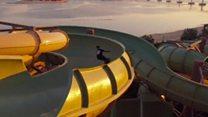 Skateboarders tackle Dubai waterpark