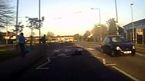 CCTV of woman struck in hit-and-run