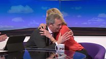 'Would you like to give Nigel a hug?'