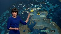 Watch: Snow and ice warning for Friday night