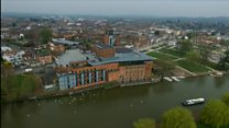 Royal Shakespeare Theatre from the air