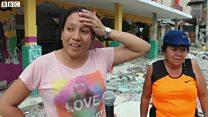エクアドル地震 必死の救助活動続く