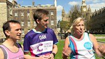Why do MPs run marathon for charity?