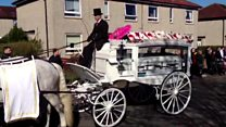 Teenager's funeral hearse arrives