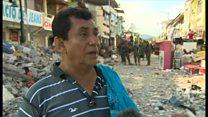 娘と赤ちゃん置いて逃げるしか―エクアドル地震の被災男性