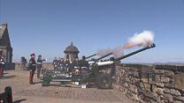 Edinburgh's 21 gun salute for Queen