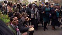 Mourners become musicians at DJ Derek's funeral