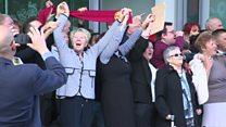 Hillsborough families sing outside court
