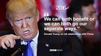 Donald Trump says China respects strength