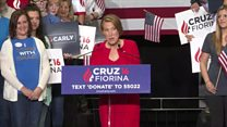 Carly Fiorina sings at Ted Cruz event
